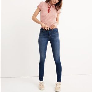 "NWOT Madewell 10"" High-Rise Skinny Jeans"